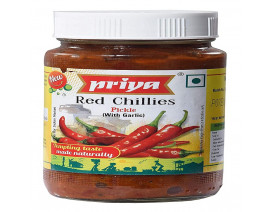Priya Red Chilli Garlic Pickle - Case