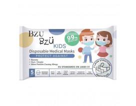 Bzu Bzu Kids Disposable Medical Masks 5's - Case