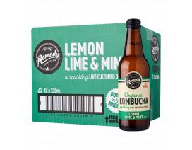 Remedy Organic Kombucha Lemon Lime Mint - Case