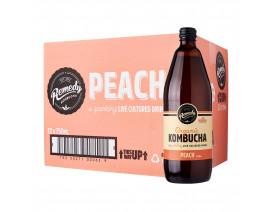 Remedy Organic Kombucha Peach - Case