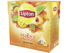 Lipton Pyramids Black Tea Bags Peach Mango - Case